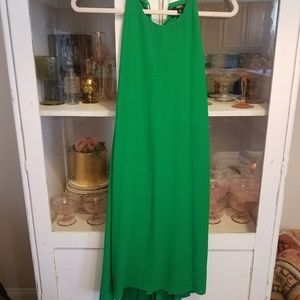 Green hi-low dress